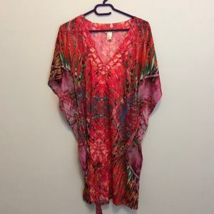 Neon tropical print cover up ❤️FIRM PRICE